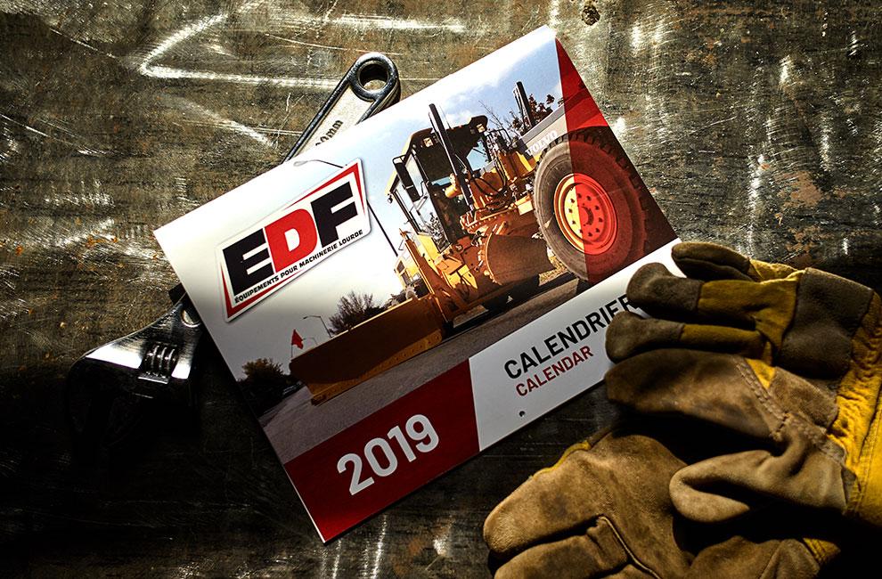 Calendrier pour le EDF, graphiste