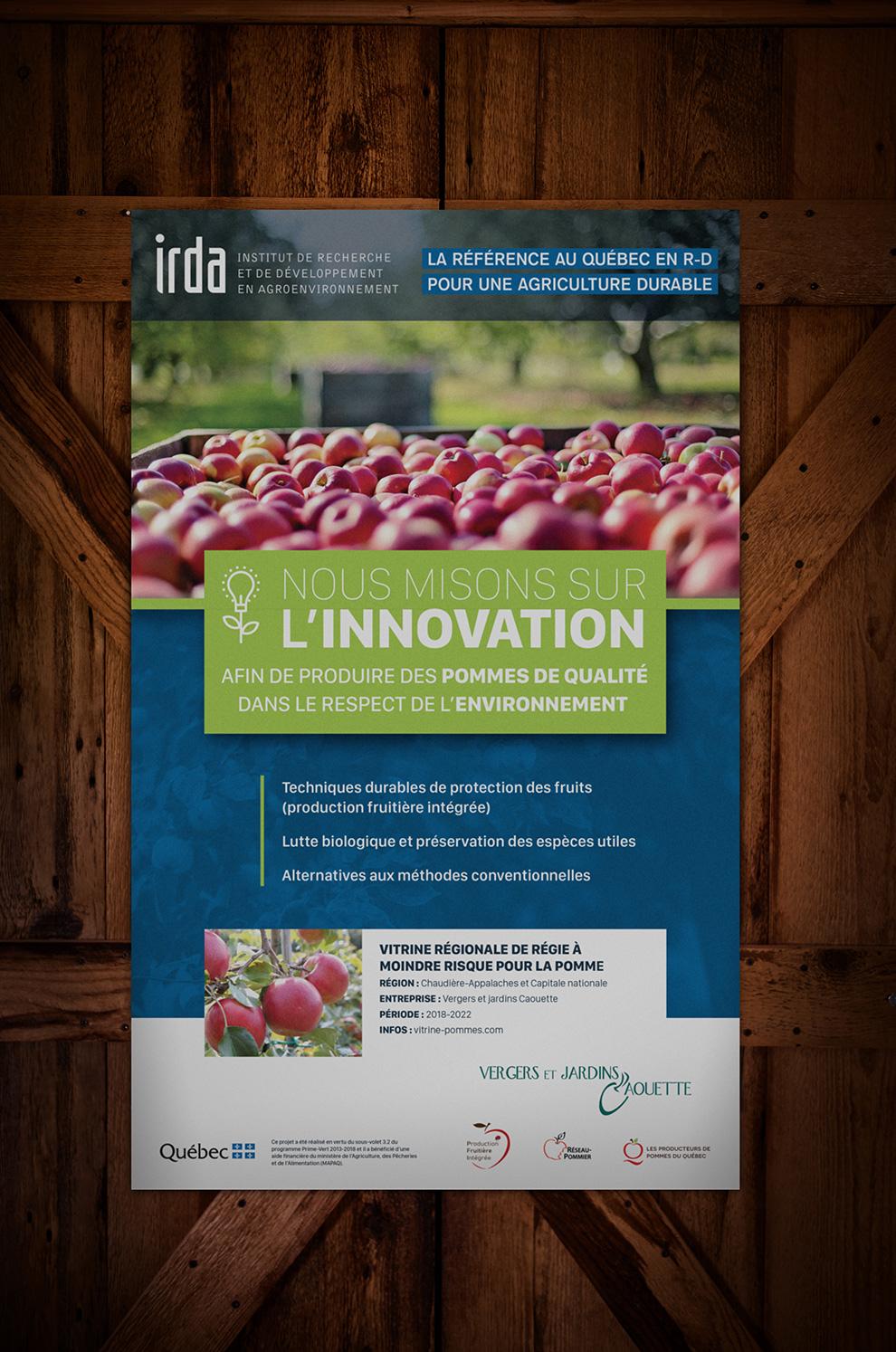 Affiche pour Irda, impression grand format, graphiste