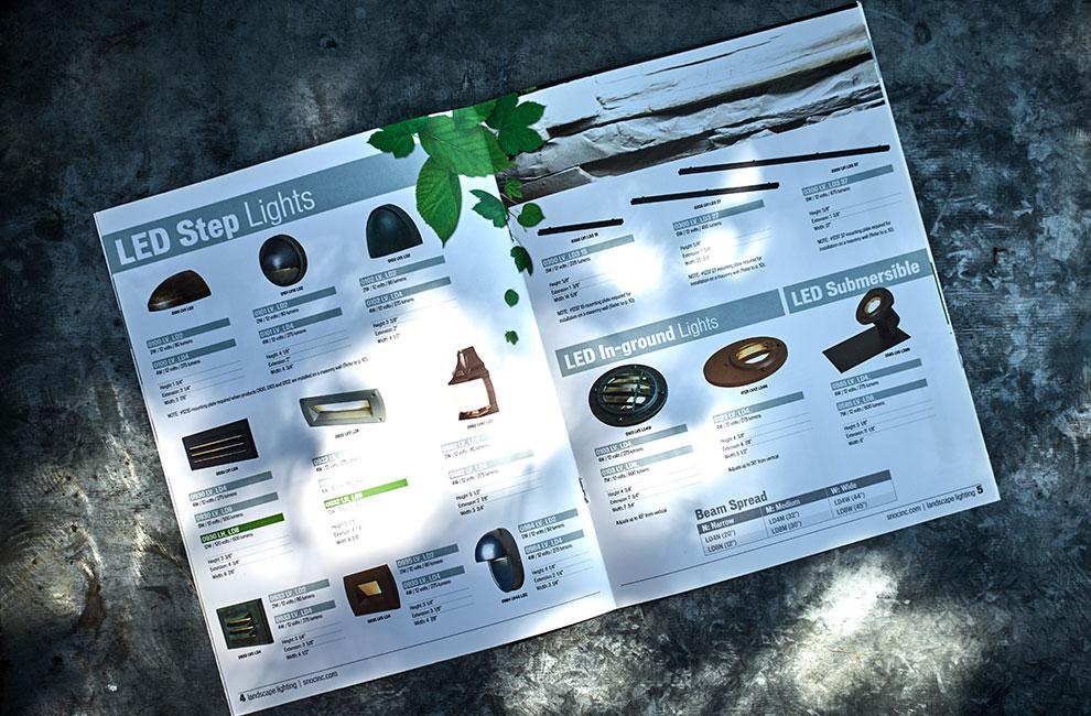 Brochure promotionnelle pour Snoc, graphiste, mise en page