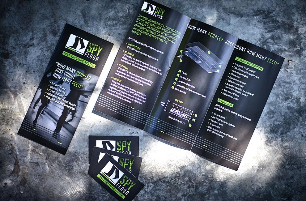 Dépliant pour Spy Floor, graphiste et branding