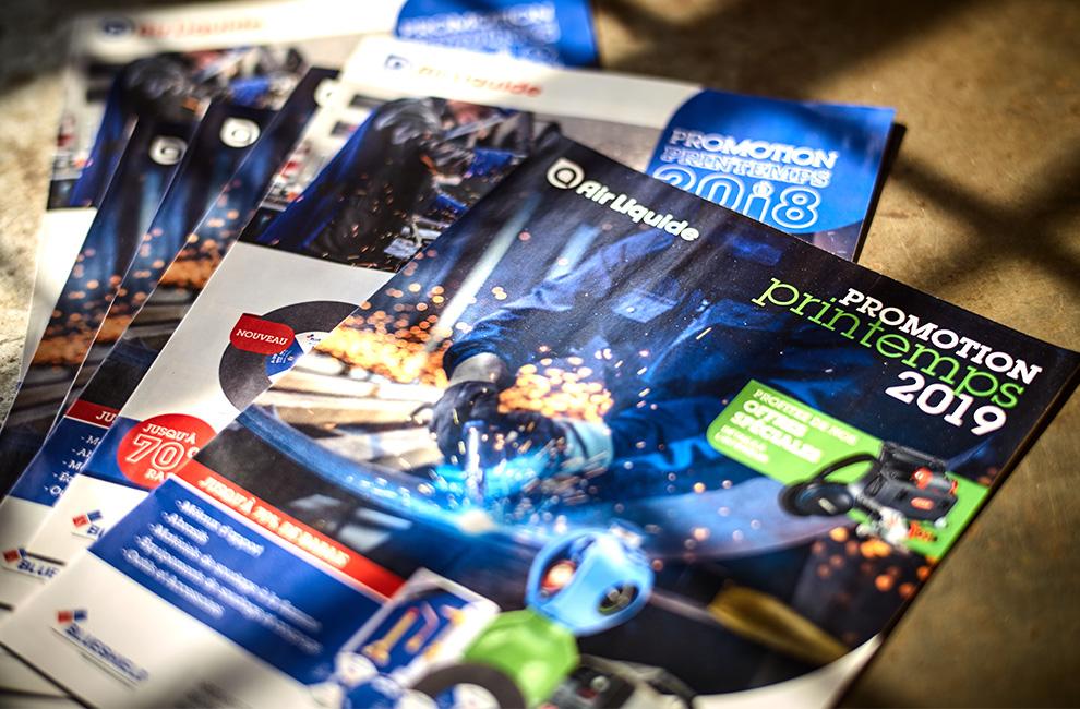 flyer, catalogue, circulaire, Air Liquide, mise en page