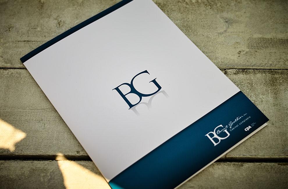 Branding pour Benoit Gauthier, papeterie, pochette corporative