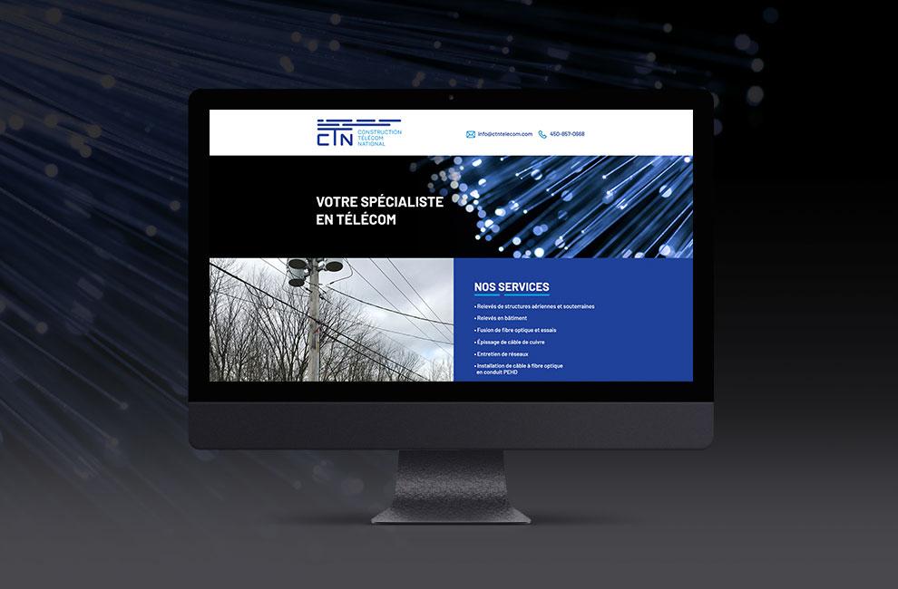 Création d'un site web pour le CTN, intégration web.
