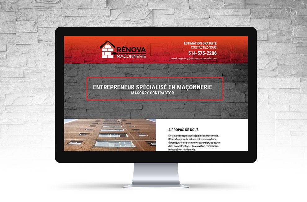 Conception et intégration du site web pour Renova maconnerie