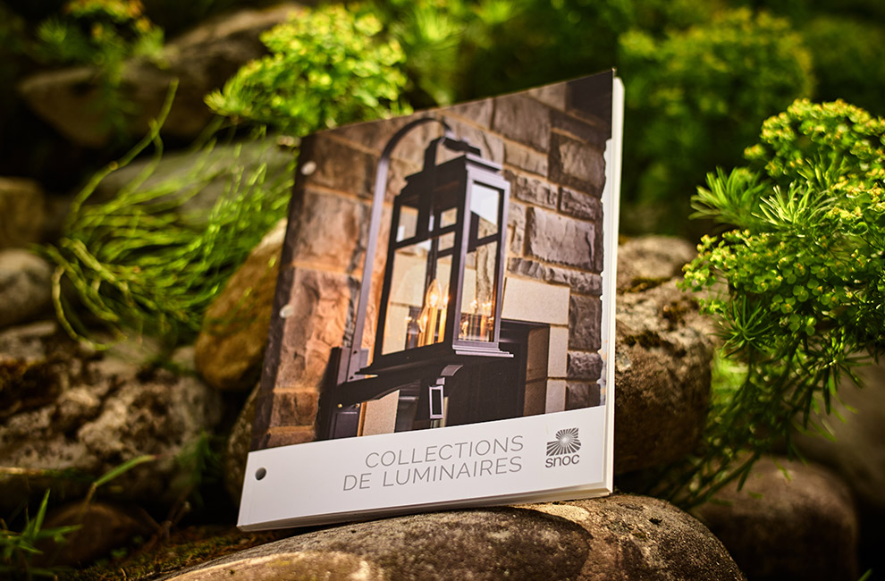 Catalogue de produit pour Snoc, shooting photo, graphiste, mise en page