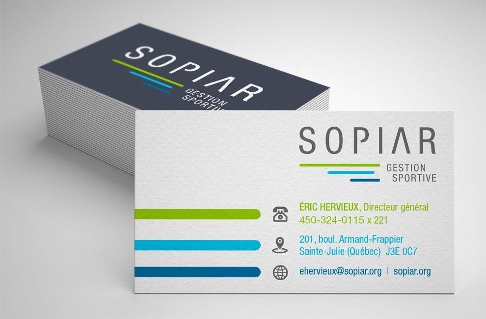Création de logo pour Sopiar, gestion sportive, carte d'affaire, graphiste