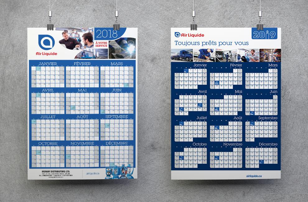 Graphisme, conception graphique, calendrier, poster, impression grand format