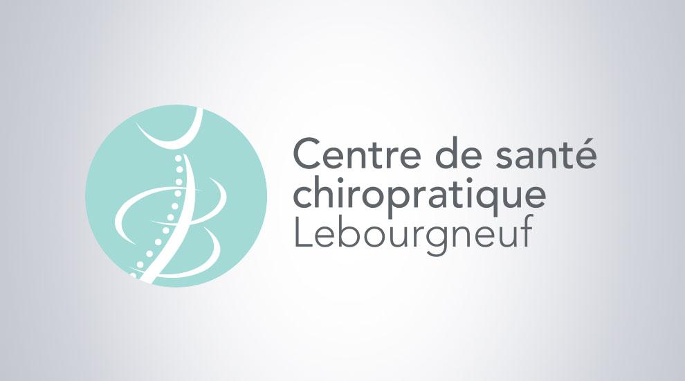 Création de logo pour le Centre de santé chiropratique Lebourgneuf, graphiste et branding