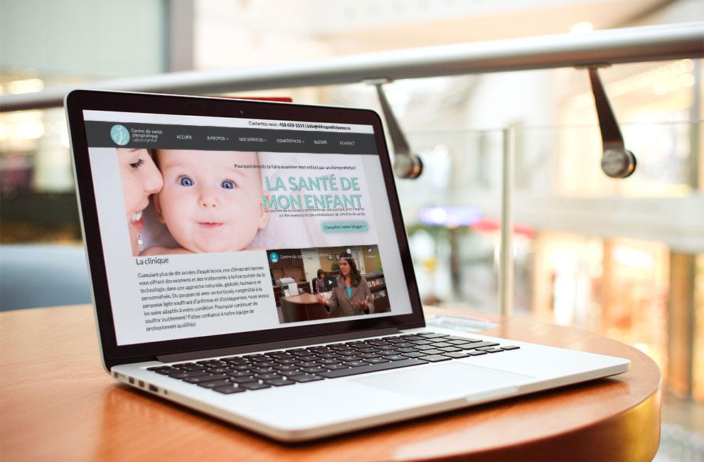 Création d'un site web pour le Centre de santé danturologue lebourgneuf, intégration site web, graphiste