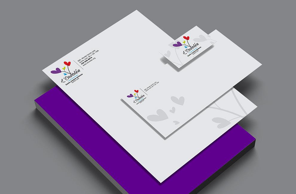 Création de logo pour l'Envolée, graphiste et branding