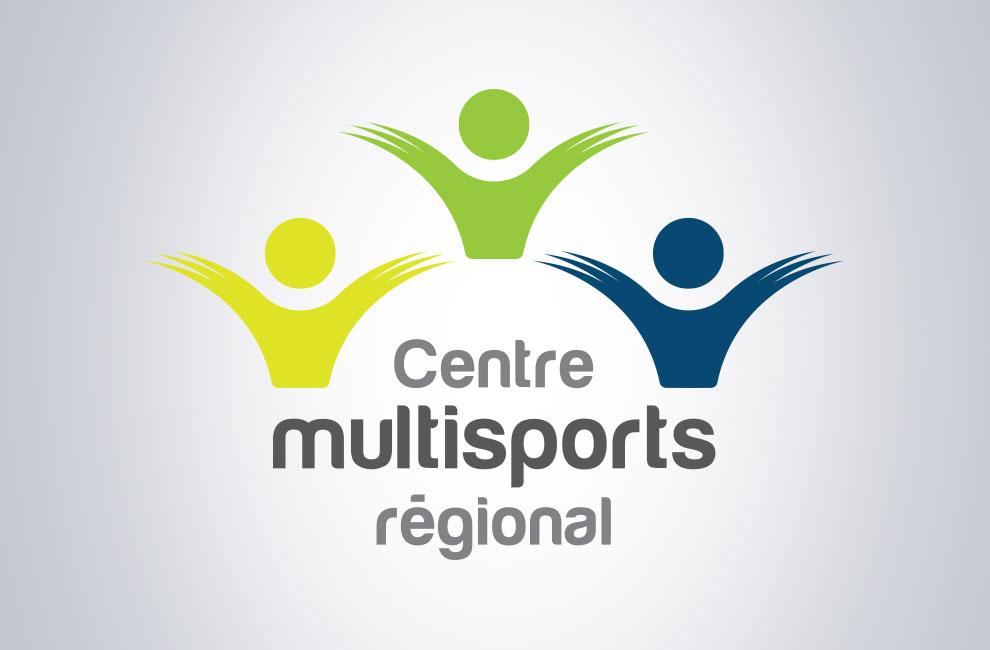 Création de logo pour le centre multisports régional, graphiste, branding