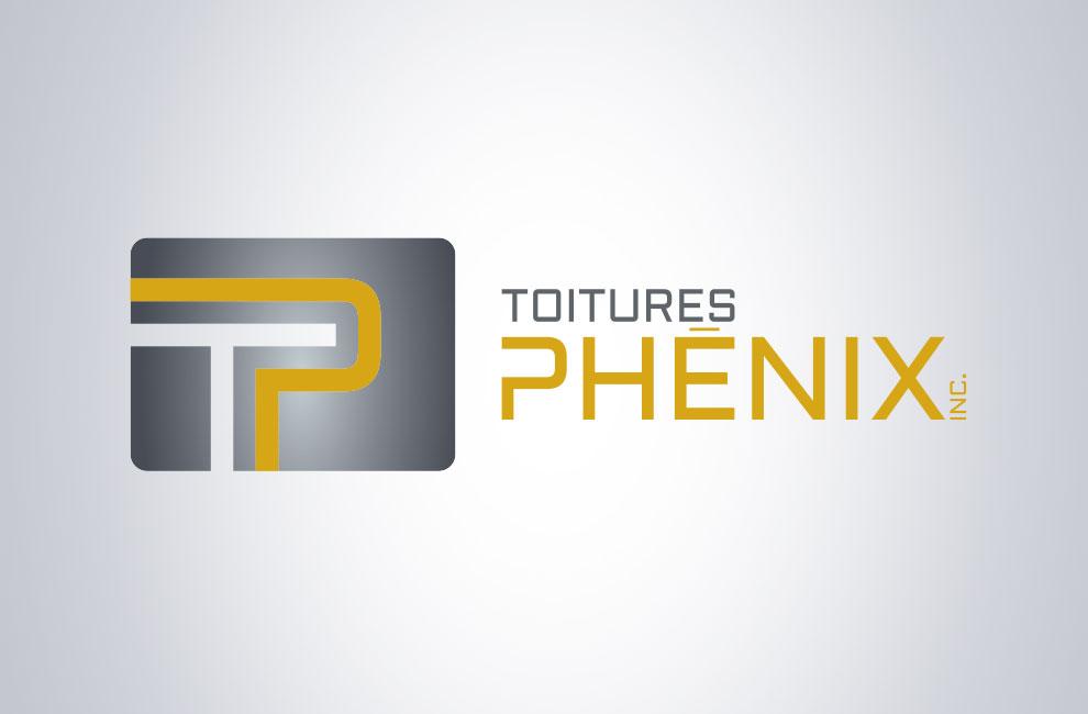 Création de logo pour Toitures phénix, graphiste et branding