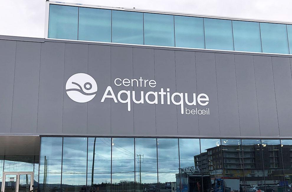 Création de logo pour le centre aquatique beloeil, graphiste