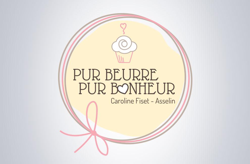 Création de logo pour Pur beurre pur bonheur, graphiste