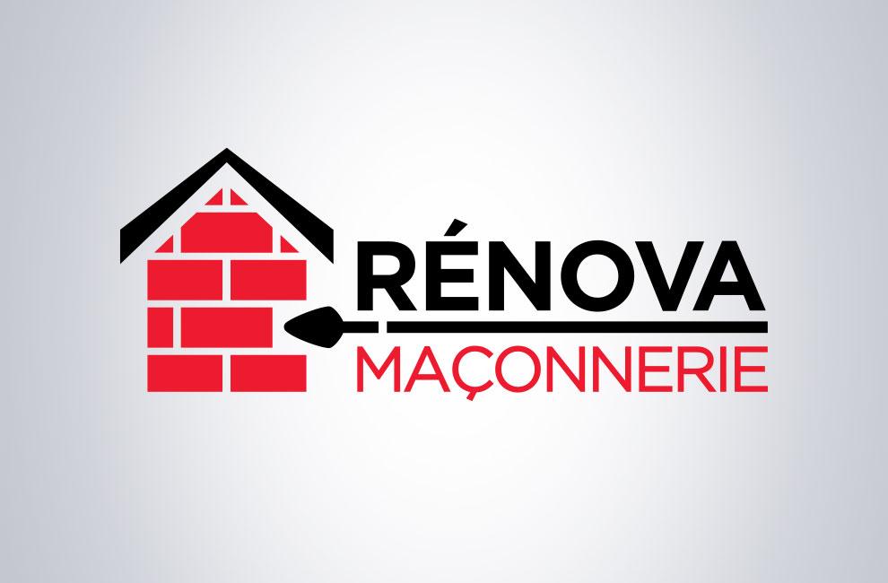 Création de logo pour Rénova maconnerie, graphiste et branding