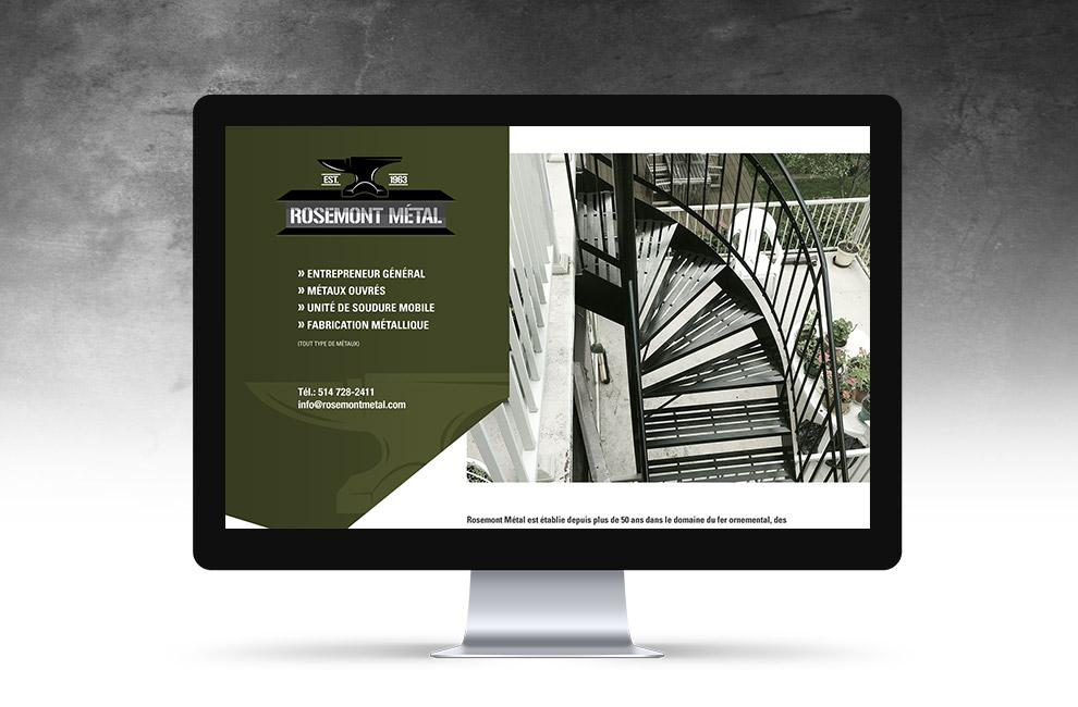 Conception et intégration pour Rosemont métal