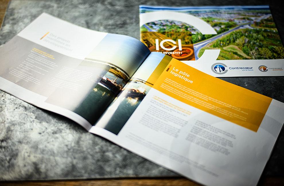 Brochure promotionnelle pour la ville de contrecoeur, graphiste
