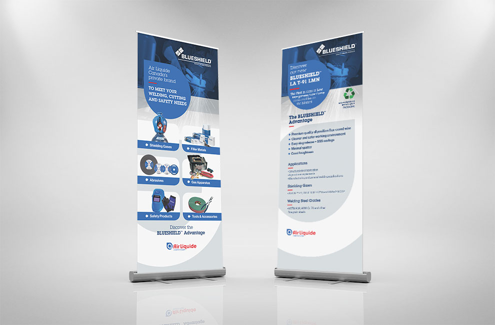 Roll-up pour blueshield, graphiste, grand format
