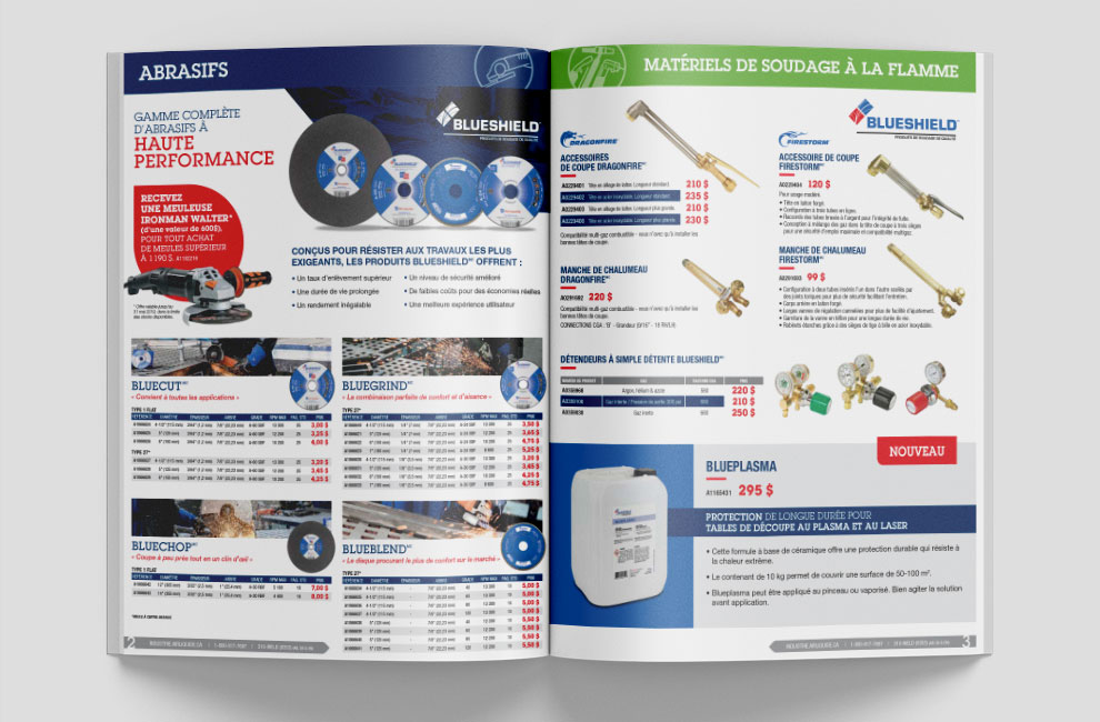 brochure, promotion air liquide, graphiste, mise en page