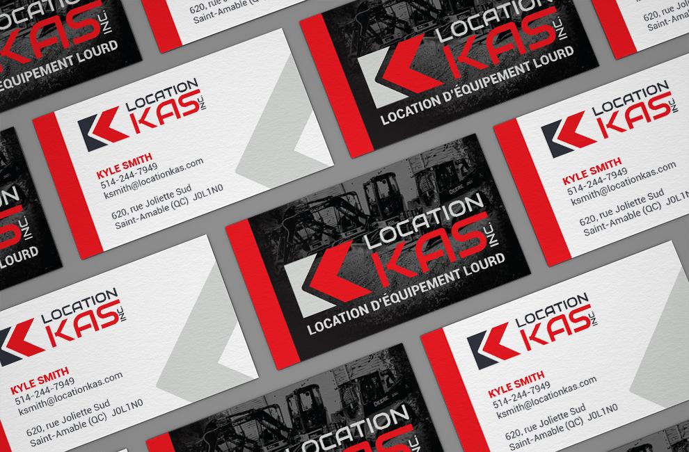 création de logo pour location kas, carte d'affaire, graphiste