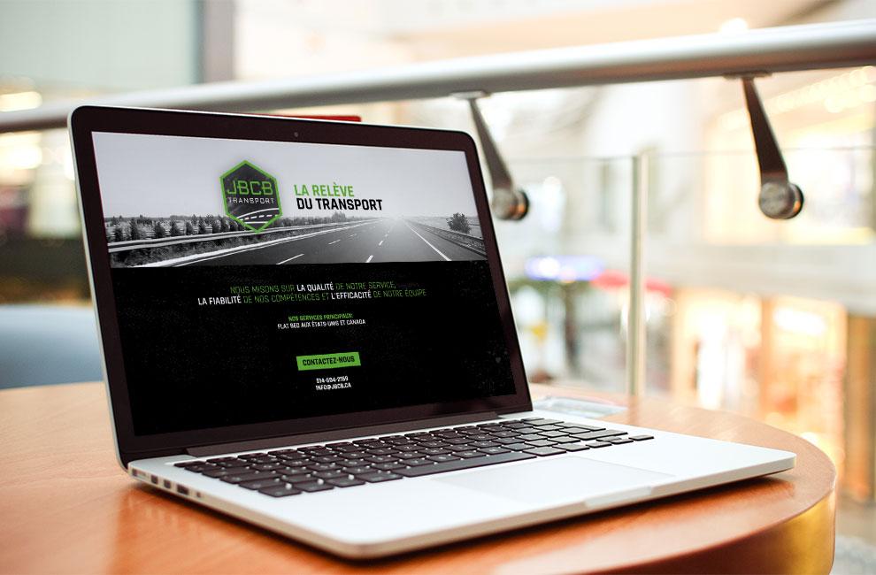 conception et intégration d'une page web pour JBCB transport, création de logo