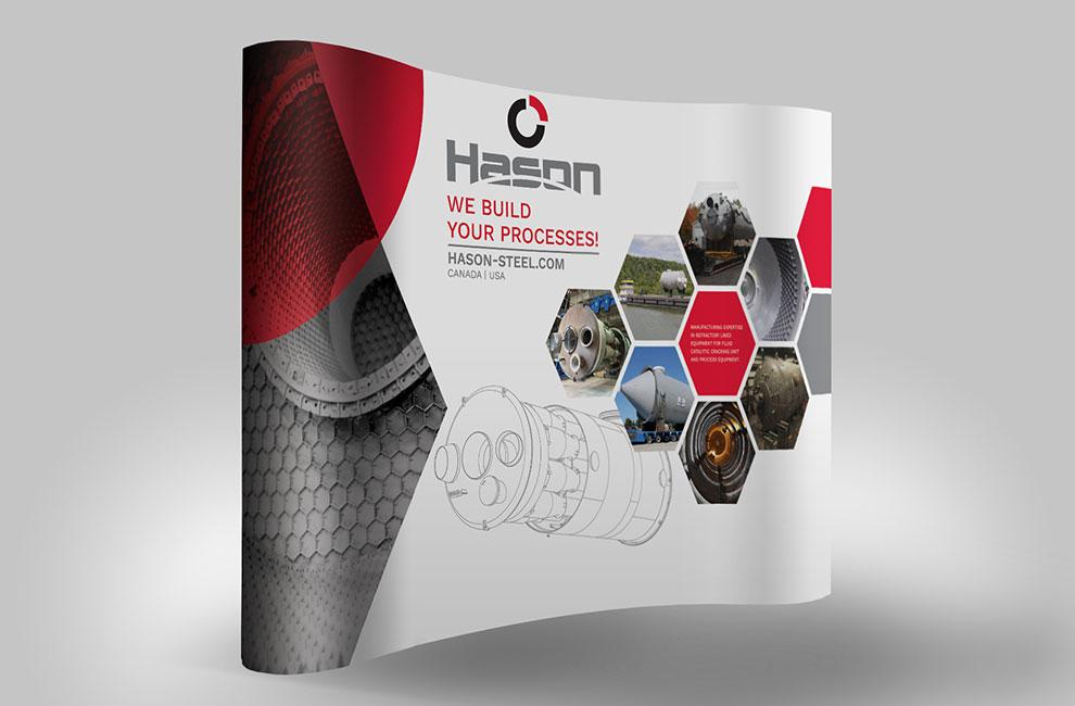 Kiosqued'exposition pour Hason, graphiste et branding