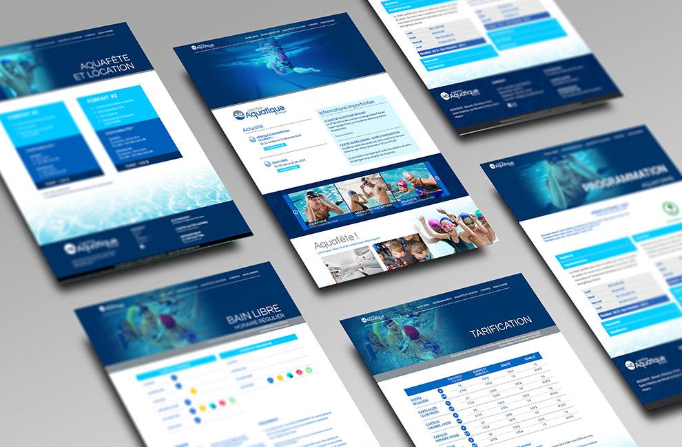 Conception et intégration du site web du centre aquatique de Beloeil, graphiste, conception graphique
