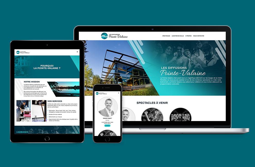 conception et intégration d'un site web pour les diffusions pointe-valaine