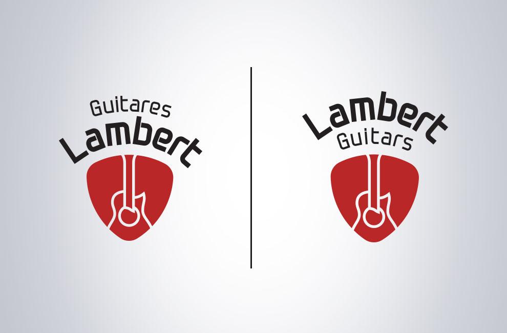 Graphiste et branding, création de logo de guitares lambert