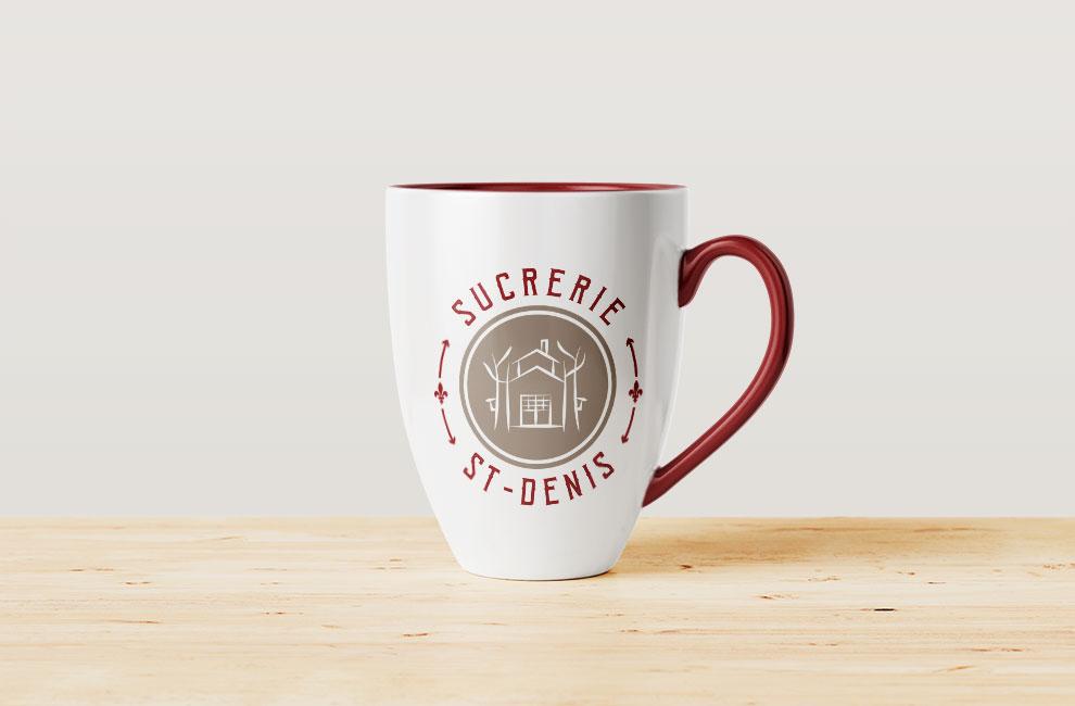 Branding et graphiste, création de logo pour Sucrerie St-Denis