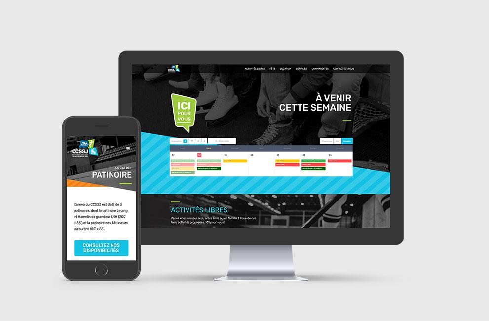 conception et intégration d'un site web pour l'aréna du ccssj