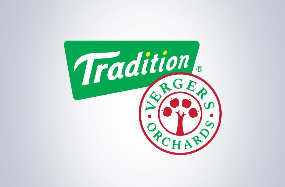 Déclinaison du logo Tradition vergers, graphiste et branding, création de logo