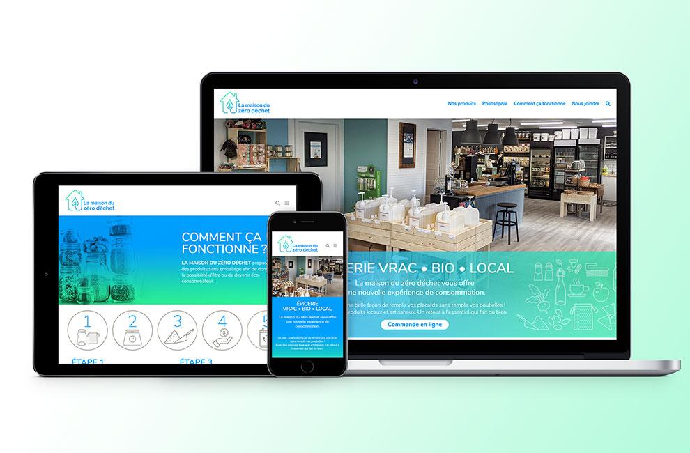conception et intégration d'un site web pour la maison du zéro déchet