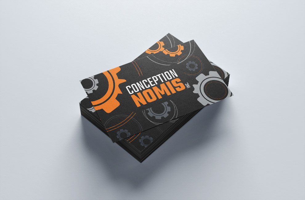 Branding, création de logo pour Conception Nomis, carte d'affaire
