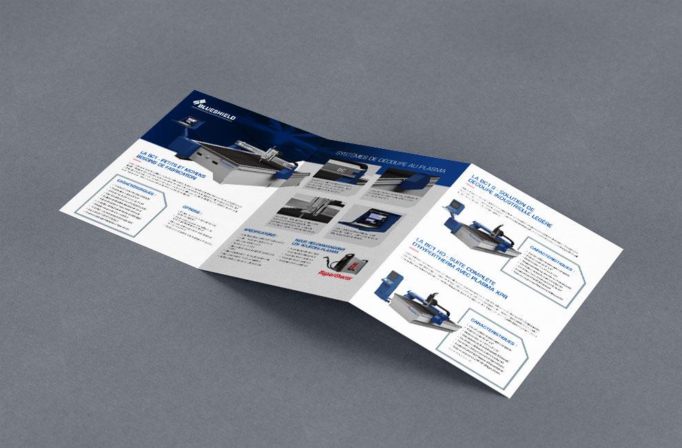 dépliant promotionnel, flyer, conception graphique pour air liquide