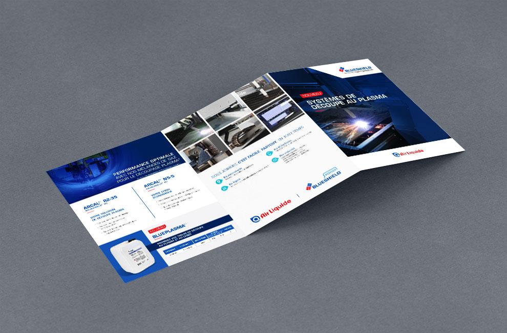 Publicité, document promotionnel, dépliant, flyer, conception graphique