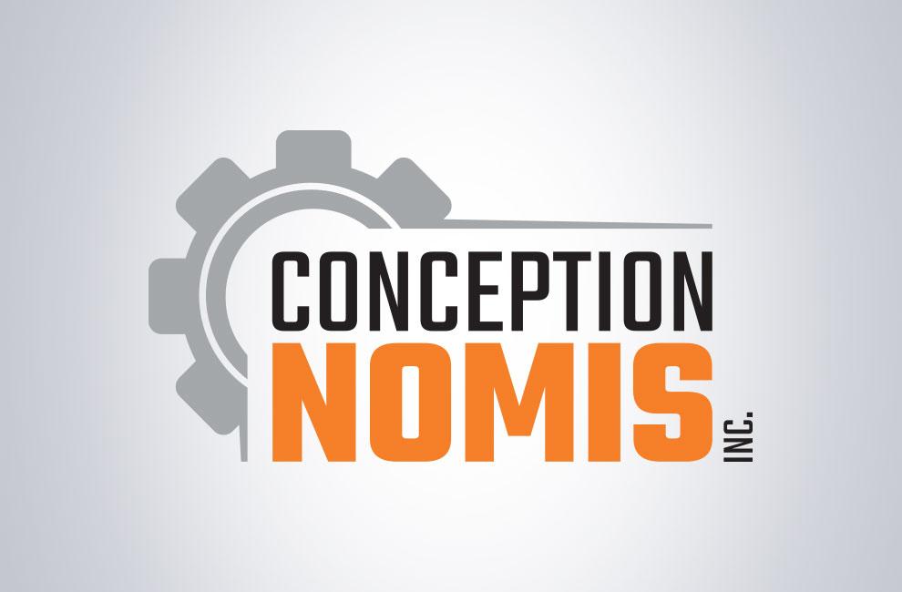 Branding, création de logo pour Conception Nomis