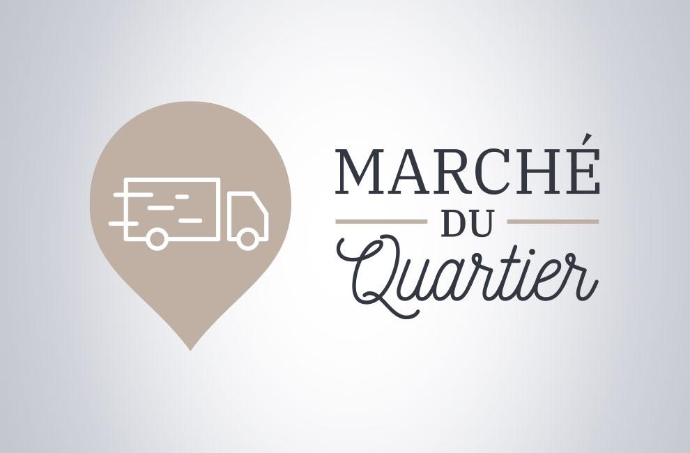 Branding, création de logo pour Marché du quartier