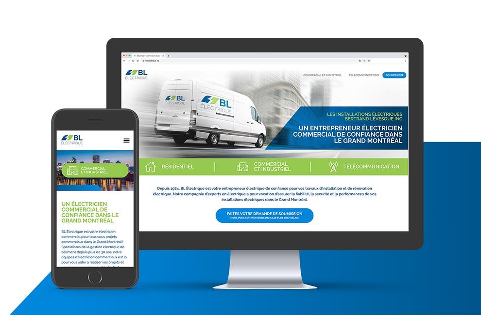 conception et intégration d'un site web pour BL electrique