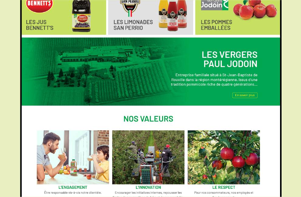 nouveau site web vergers jodoin vpj site version desktop bureau