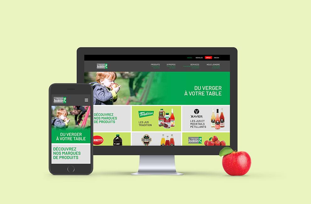 nouveau site web vergers jodoin vpj montage web version mobile responsive et desktop bureau