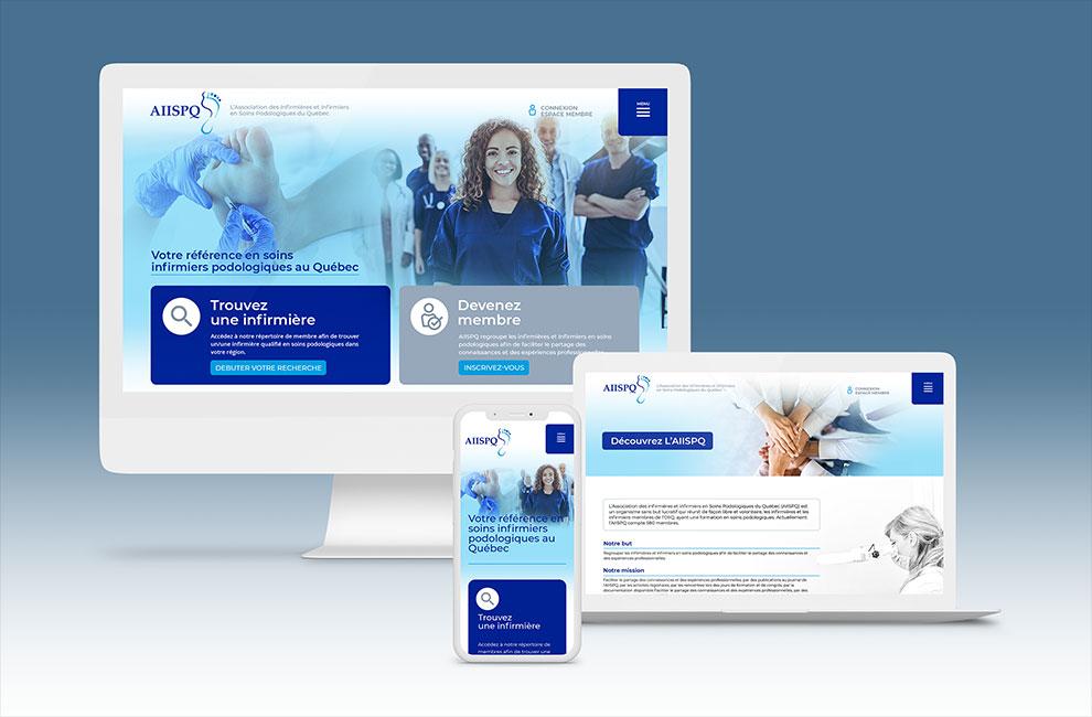 création et intégration d'un site web pour l'AIISPQ
